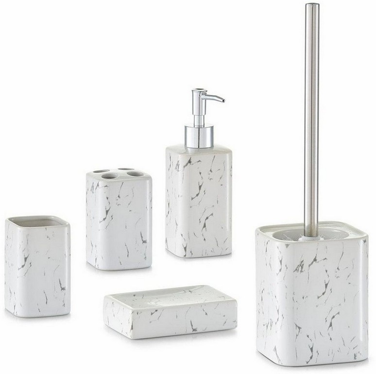 Badezimmer Accessoires Wei Und 4 Tlg Bad Wc Garnitur Set with measurements 960 X 953