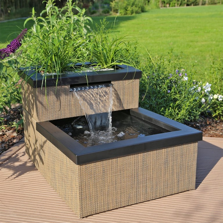 Clgarden Mini Teich Wasserfall Set Mtws1 Fr Balkon Terrasse Innen with regard to size 1000 X 1000