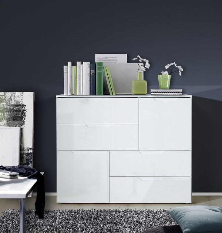 Forte Mbel Kommode Sienna Weiss Hochglanz inside proportions 2756 X 2891