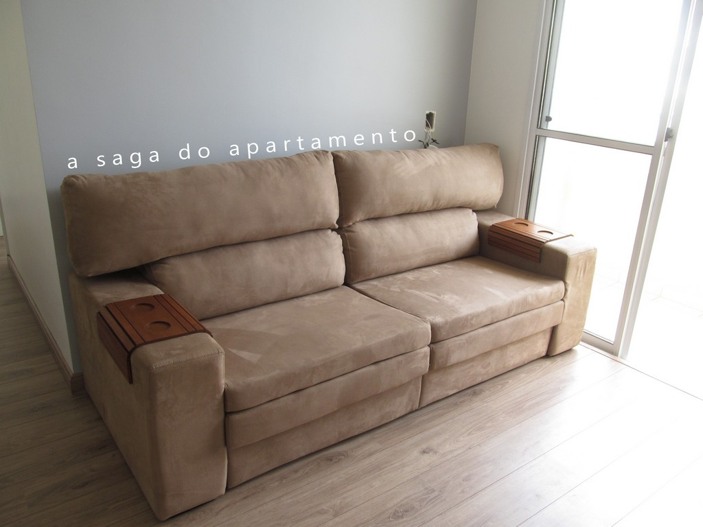 Sof Retrtil Com Chaise A Saga Do Apartamento regarding proportions 3072 X 2304