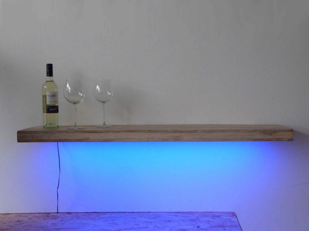 Wandregale Wandregal Regallampe Led Licht Blau Ein Designerstck pertaining to size 2000 X 1500