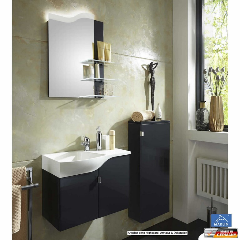 Marlin 3010 Badmbel Set Gstebad 60 Cm Mineralmarmor Led throughout proportions 1404 X 1404
