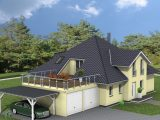 Bungalow 215 M Berdachte Terrasse Amex Hausbau Gmbh with proportions 1600 X 784