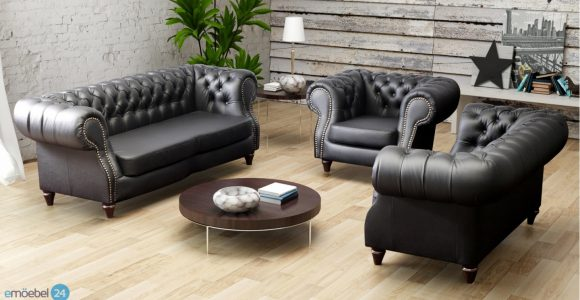 Chesterfield Neu Set 3 2 1 Sofa Couch Echtleder Pu Emoebel24 in measurements 1440 X 800