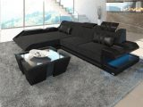 Ecksofa Apollonia Als L Form In Stoff Mit Led Licht Designersofa inside measurements 1231 X 800