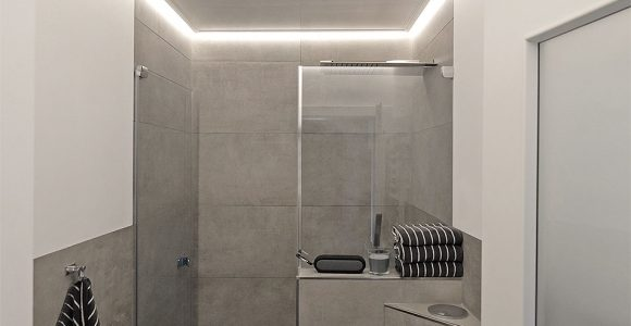 Indirekte Beleuchtung Im Badezimmer Plameco Decke Mit Led Stripes with dimensions 953 X 1433