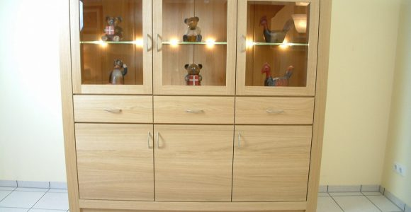 Schermbeck Highboard Kleiner Schrank Wohnzimmerschrank Eiche for measurements 1280 X 960