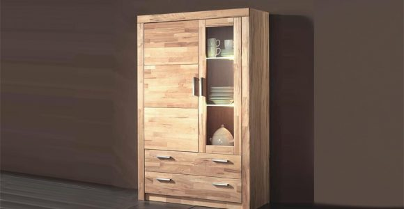 Vitrine Simone Schrank In Kernbuche Teilmassiv 160cm Hoch throughout sizing 1500 X 844